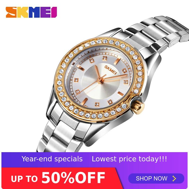 SKMEI Relogio Feminino Ladies Women Quartz Watch Stainless Steel Strap Female Waterproof Wristwatch Clock Montre Femme 1534