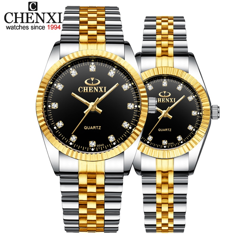 Best Couple New CHENXI Steel Band quartz watch men and women watches fashion lovers watches Women's