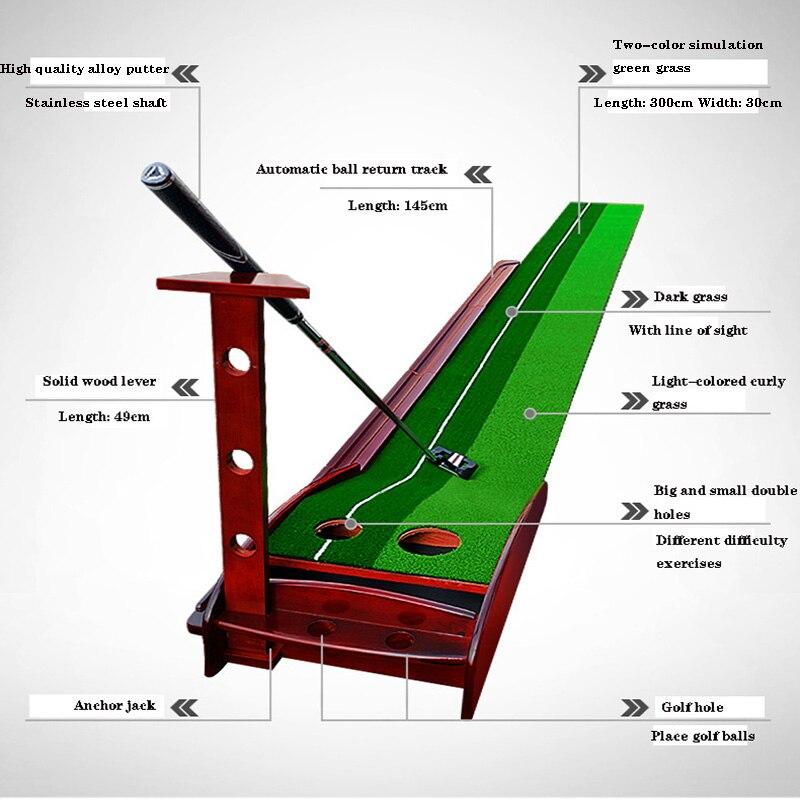 Golf Putting Trainer Indoor Practice Supplies 3 / 3.5m Solid Wood Trainer Factory Direct Sales