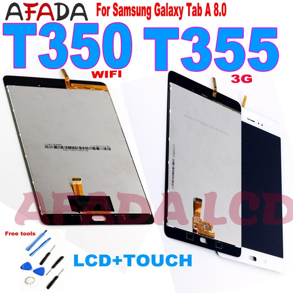 """Reemplazo de LCD de 8 """"para Samsung Galaxy Tab A 8,0 T350 T355 T357 T351, montaje de pantalla táctil LCD SM-T350 WIFI/ SM-T355 3G"""