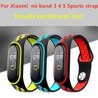 Ремешок для фитнес-браслета Xiaomi Mi Band 6 5 3 4, силиконовый спортивный браслет для xiaomi mi band 6 3 4 5
