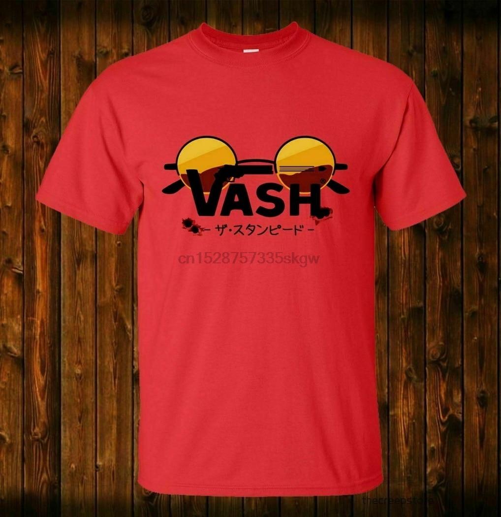 Vash Stampede Trigun Manga Anime Nwt 100% Cotton Red T-Shirt Size S-5XL Printed Plus Size TEE Shirt