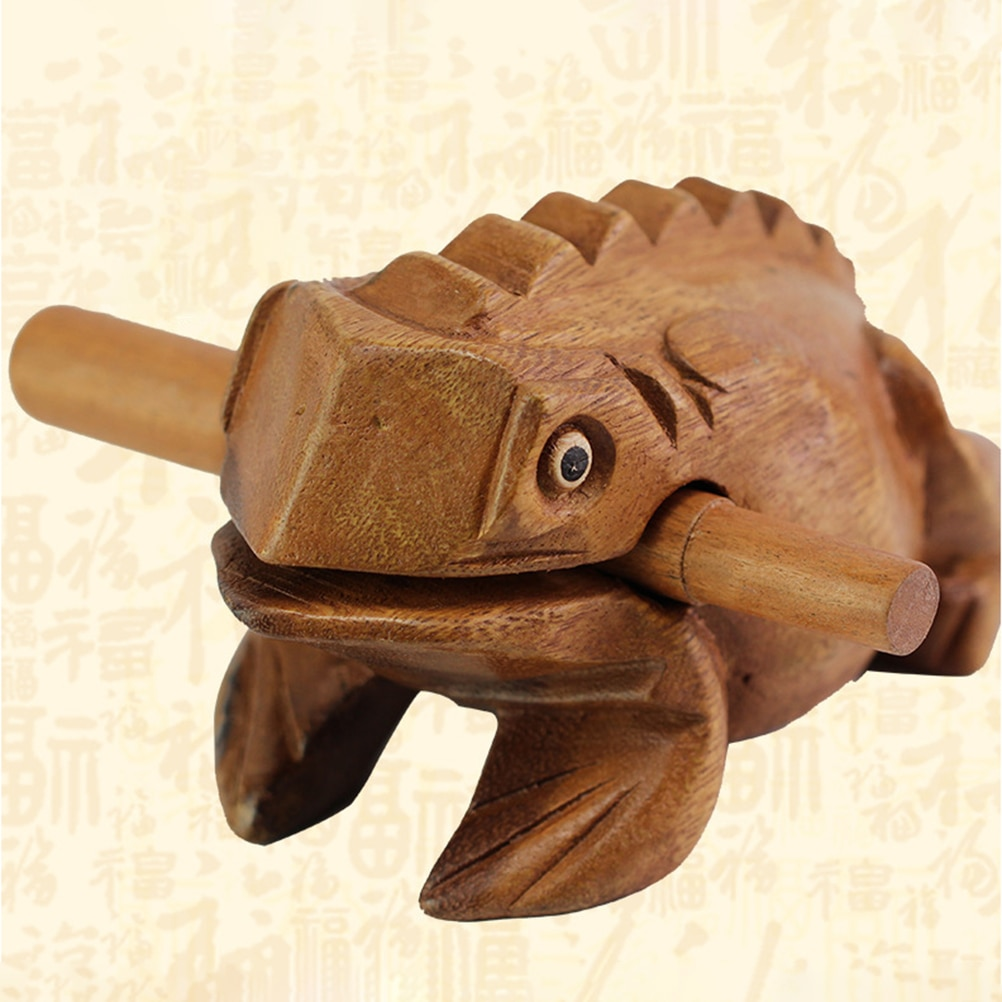 Деревянная игрушка-Лягушка на удачу, искусственное животное, глушители, детский музыкальный инструмент, игрушка, подарок, детские игрушки, ...