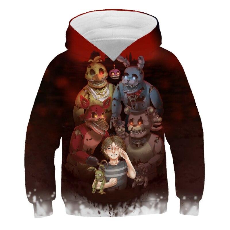 Sudadera con capucha de cinco noches en Freddy para niños y niñas...