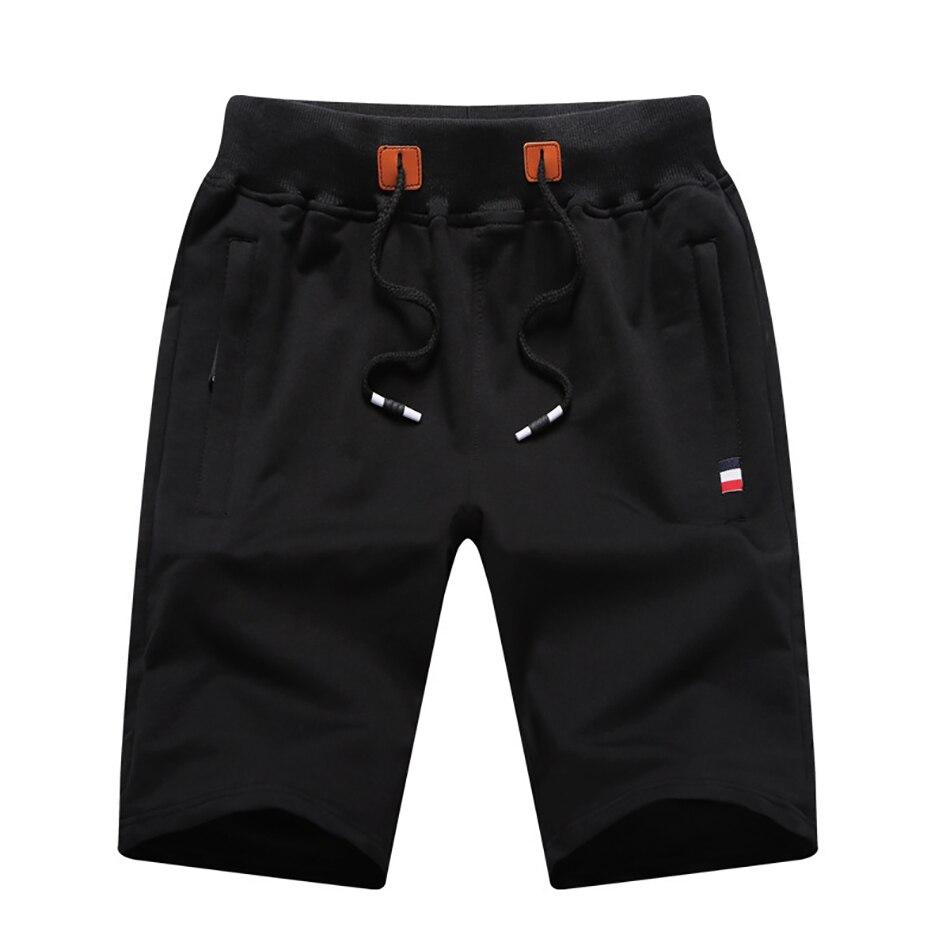 Мужские летние бриджи, шорты из 2021 хлопка, повседневные мужские бриджи, трикотажные бриджи с карманами на молнии, модель 8xl