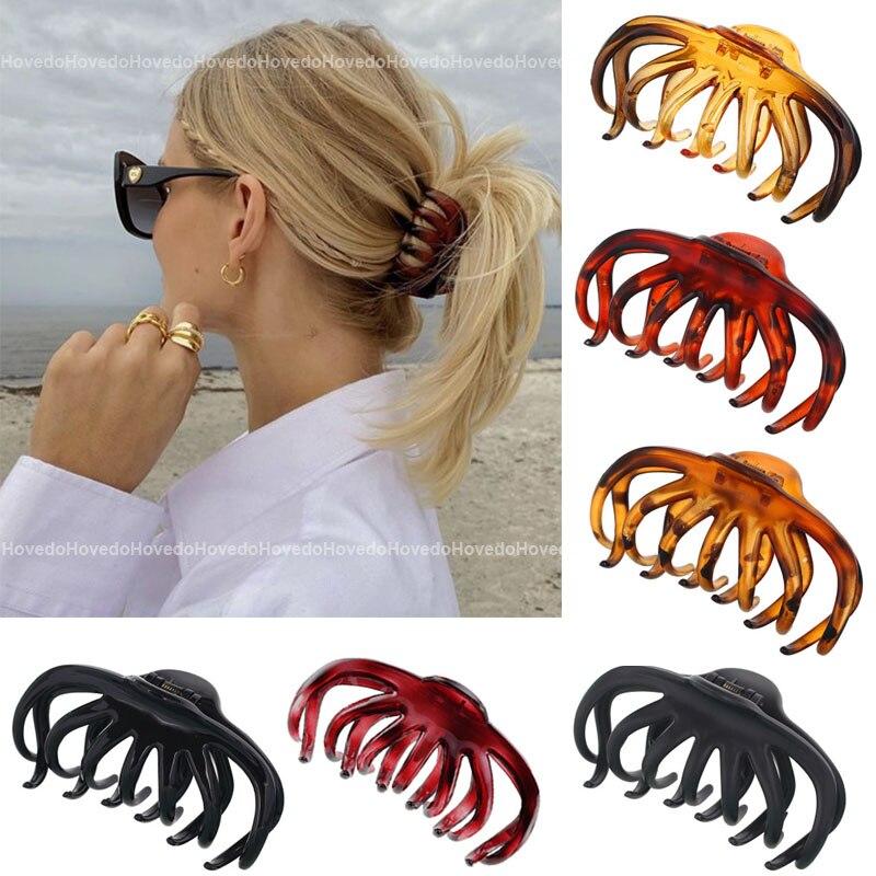 Grampos de cabelo de tamanho grande grampos de cabelo grampos de cabelo crab grampos de cabelo acessórios de cabelo presentes