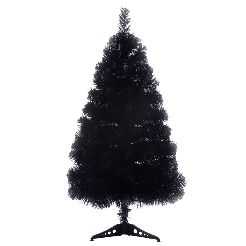 Árbol de Navidad negro, adornos de decoración del hogar, accesorios de decoración del hogar, estante de montaje, figuritas de decoración de Santa, decoración de escritorio
