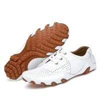 men leather golf shoes spring summer comfortable sport training sneakers for golf big size 38 46 mens golf sneakers leather