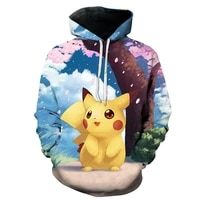 spring and autumn men and women 3d japanese animation hoodie cute and fun harajuku anime pullover summer thin sweatshirt jacket