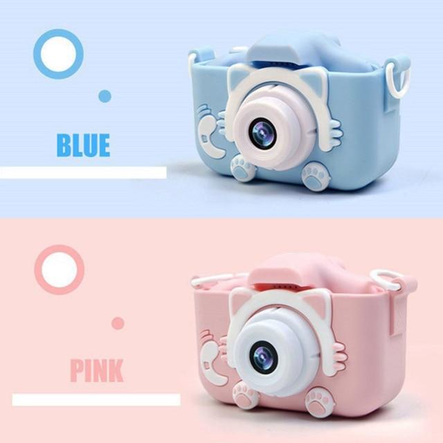 Миниатюрная детская камера 20MP X5S, 2,0 дюйма, IPS экран, HD 1080P, цифровая фотокамера для детей, игрушка с литиевой батареей 600 мАч, подарок на день рождения