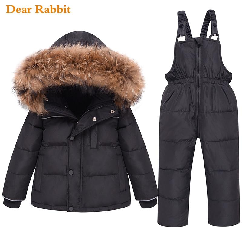 جديد 2021 ملابس الأطفال مجموعة أسفل سترة الشتاء الطفل الحمالة بنطلون طفلة بدلة تزلج الأولاد ملابس الاطفال طفل بذلة