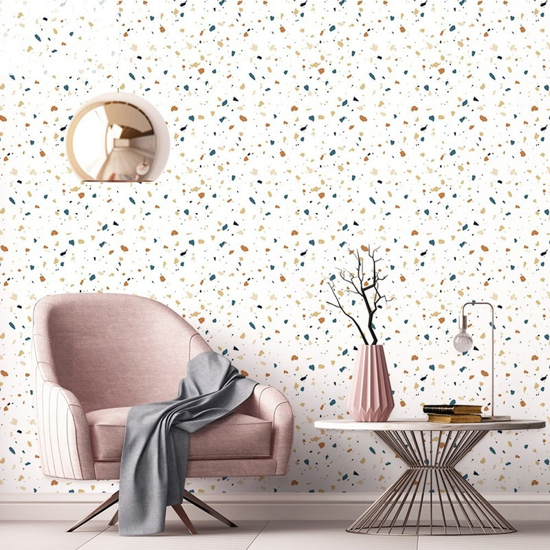 Terrazzo PVC Waterproof Self Adhesive Wallpaper for Living Room Kids Bedroom Decor Wall Sticker Kitchen Cabinet Contact Paper