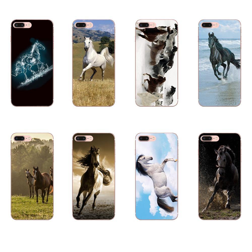 Para Huawei Mate 9 10 20 P P8 P9 P10 P20 P30 P40 Lite Pro Smart 2017 foto suave teléfono caso Wild Horse corriendo Hd papel pintado