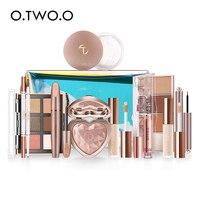 O.TWO.O 11pcs/set Full Makeup Kit Include Eye Shadow Blusher Concealer Contour Highlight Mascara Eyebrow Eyeliner Loose Powder