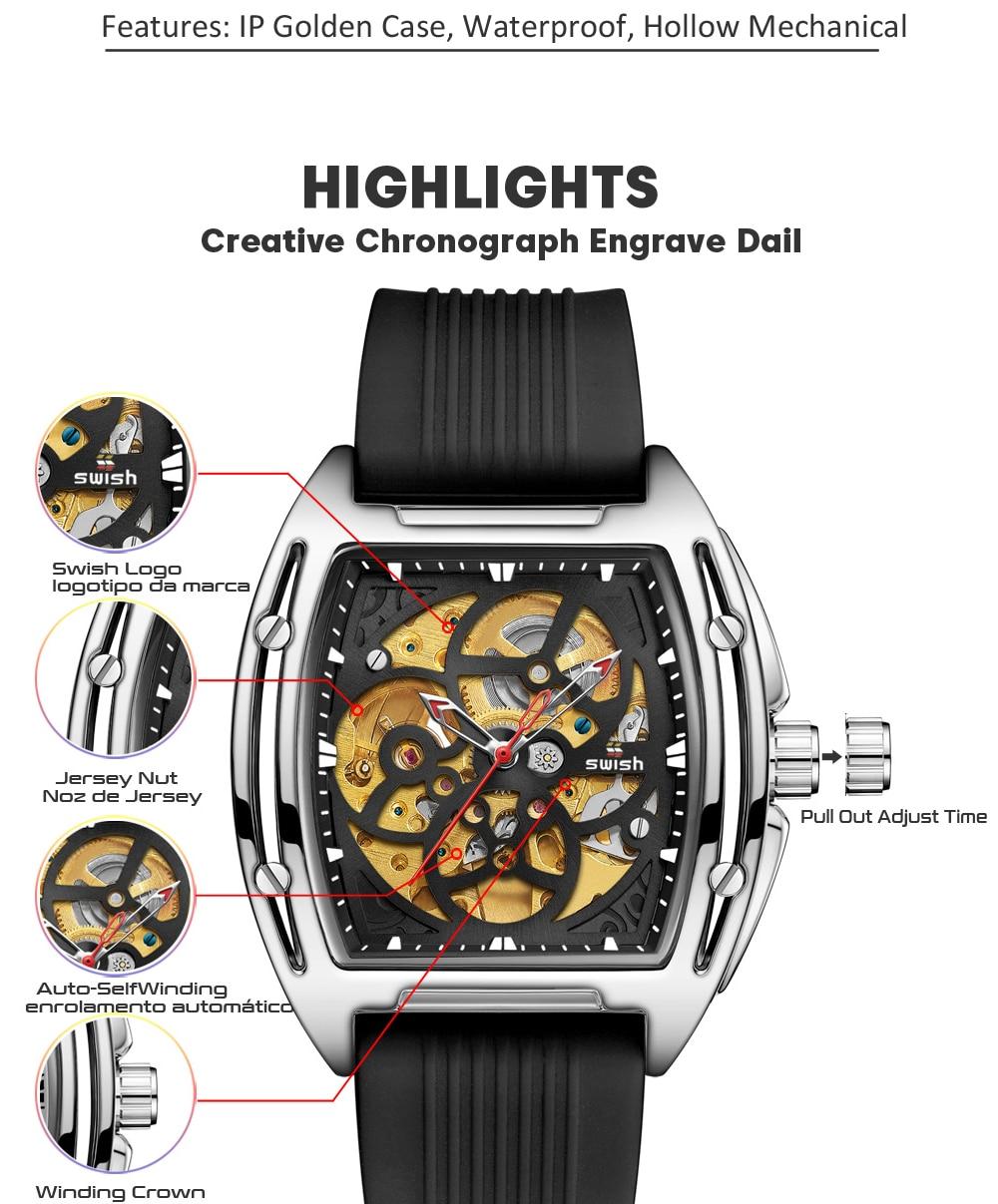 Hc02819a9affc4db185d77b3a0bffed2bR SWISH Brand Design Luxury Men's Mechanical Wristwatch