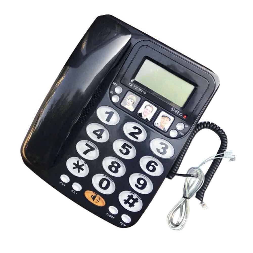 KX 2035CID هاتف سلكي معرف المتصل FSK DTMF هاتف منزلي الاتصال السريع زر كبير بصوت عال مكتب الأعمال دعوة الذاكرة الاتصال
