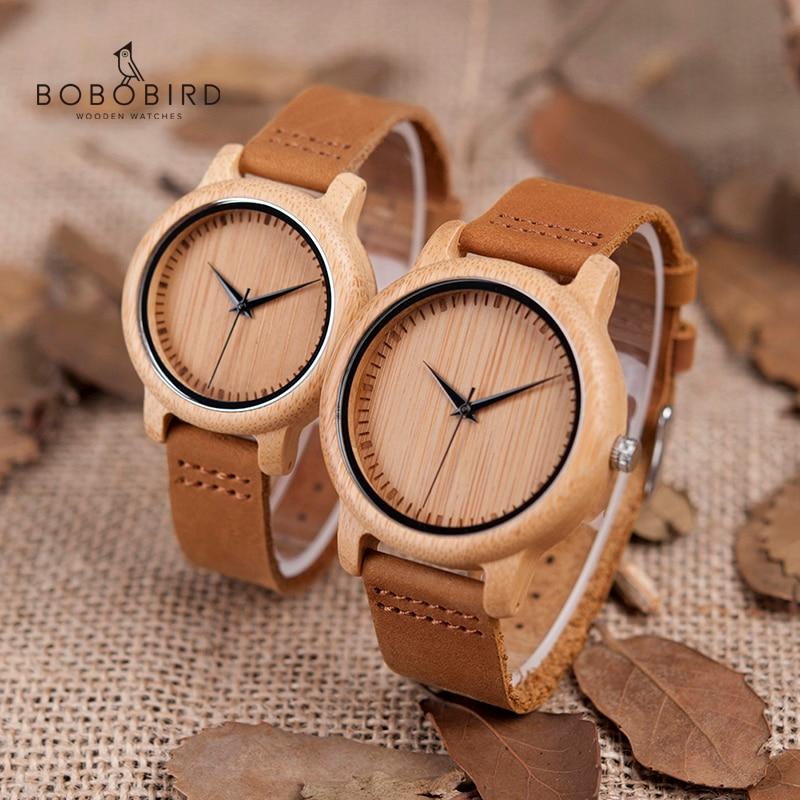 BOBO BIRD часы женские relogio masculino кварцевые часы мужские бамбуковые деревянные парные наручные часы Подарки товары Прямая поставка