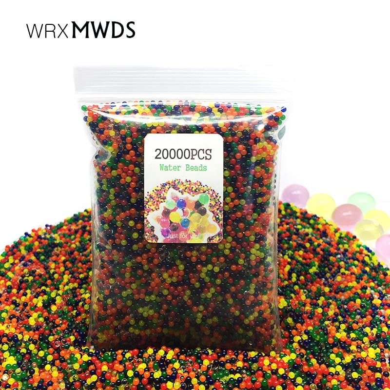 20000 unids/bolsa de agua de suelo de cristal hidrogel orbiz bolas de agua de Gel de crecimiento Flor de regalo de Navidad/boda/Decoración