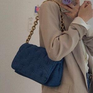 BISONJS NEW Cowboy Shoulder Messenger Bags Fashionable Ladies Underarm Bag Women's Crossbody Bag Ladies Fashion Chain Handbags