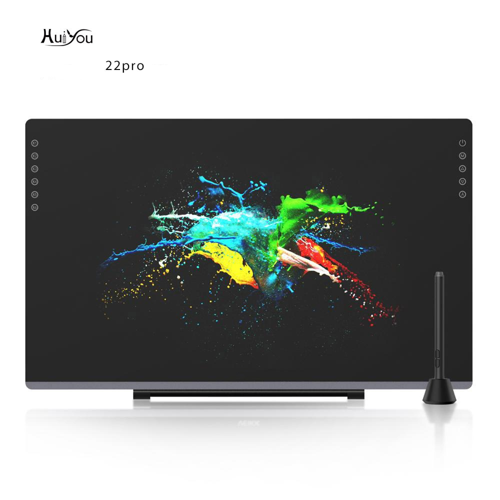 HUIYOU 22PRO 21.5 Inch NEW Graphic Drawing Monitor Full-Laminated Technology Pen Display with 8192 Levels Pen Pressure