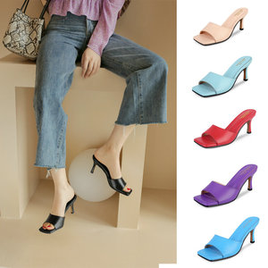 Concise Open-Toed Women shoes Slingbacks Slippers Elegant High Heels Pumps 2021 New Fashion Wedding Prom Shoes Woman