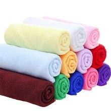 Serviette de bain en microfibre   Petite serviette absorbante en Polyester de 30x70cm à séchage rapide, serviettes de cuisine de salle de bains