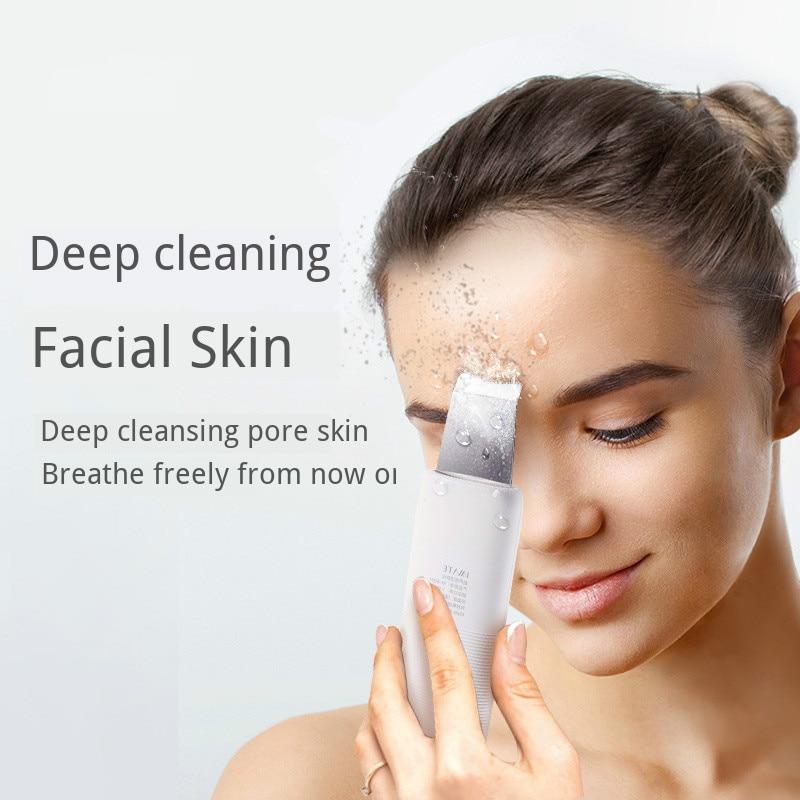 Removedor ultrasónico de espinillas USB masajeador Facial limpiador de poros limpieza de la piel herramientas de cuidado Facial con ultrasonido