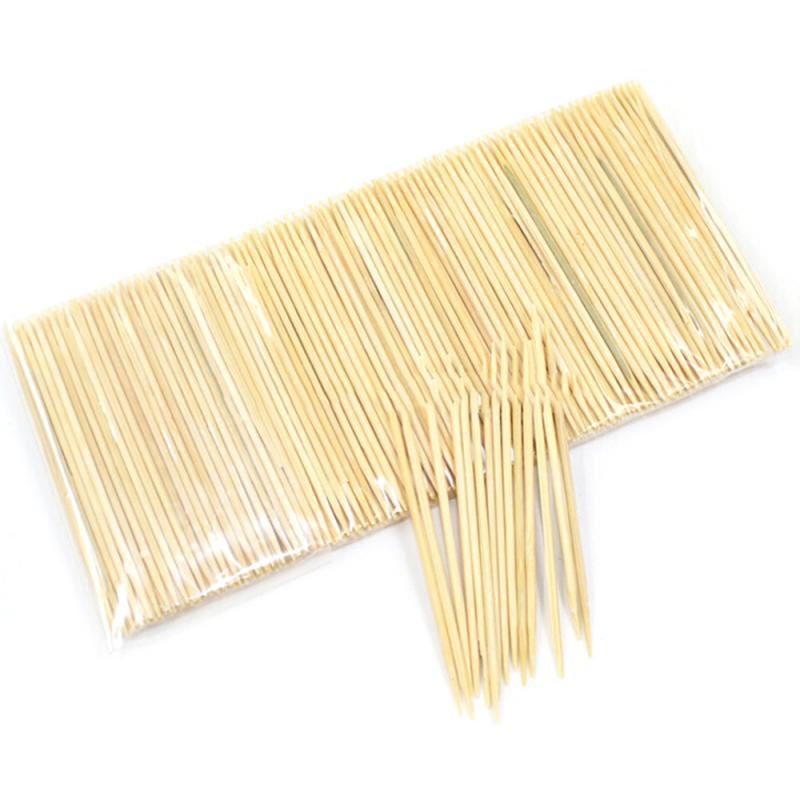 250 unids/bolsa portátil desechables de madera Dental palillo bambú Natural para casa Hotel restaurante palillos herramientas