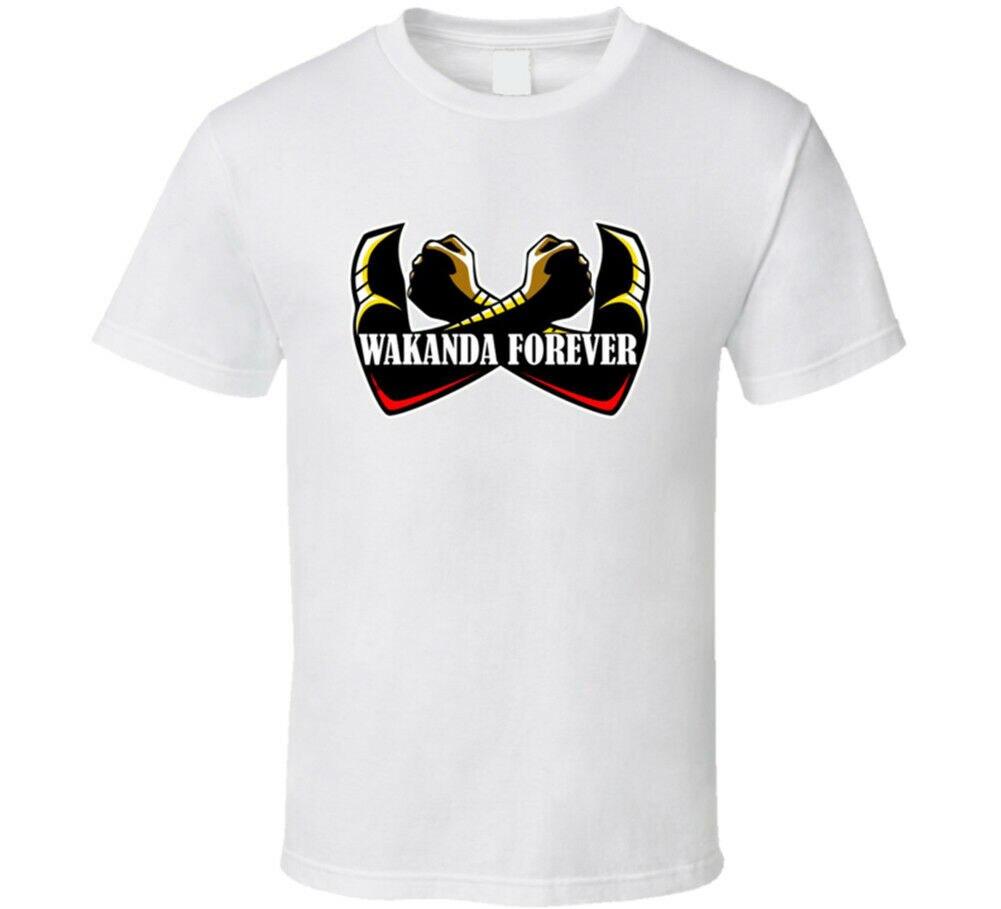 Camiseta Wakanda Forever Black Panther, película King TChalla, muchos colores