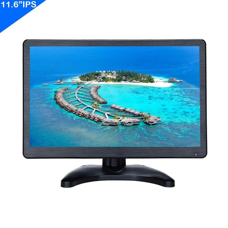 ZHIXIANDA 11.6 Inch IPS 1920x1080 Industrial Monitor For Car CCTV DVR Microscope Desktop Display With HDMI VGA  Input