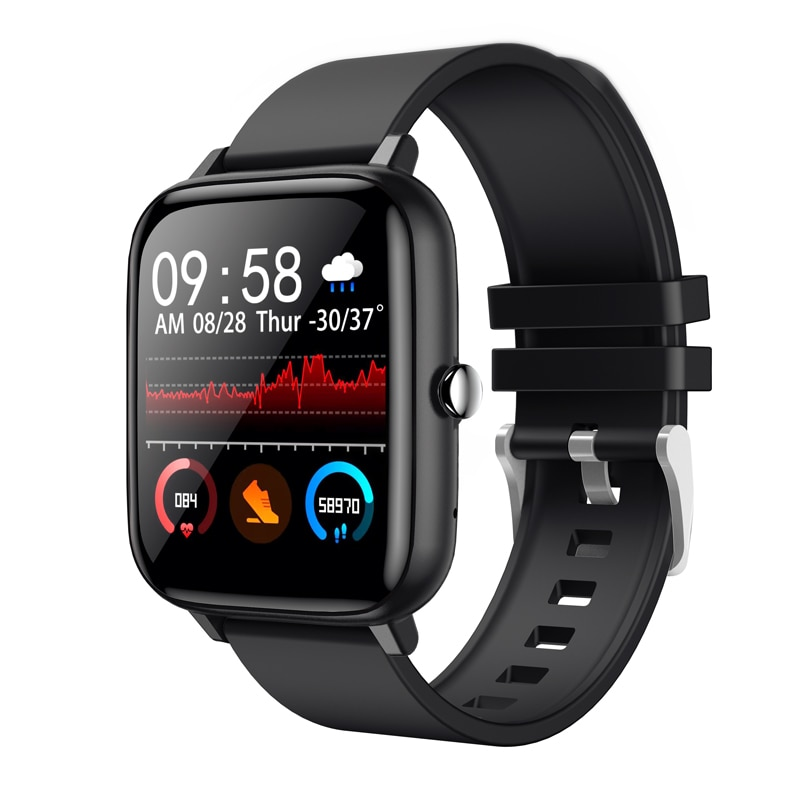Smart Watch Men Women P6 1.54 Inch Waterproof Smart Clock Fitness Tracker Full Touch Screen Heart Rate Monitor For iOS Android
