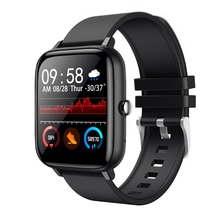 Smart Watch Men Women P6 1.54 Inch Waterproof Smart Clock Fitness Tracker Full Touch Screen Heart Ra