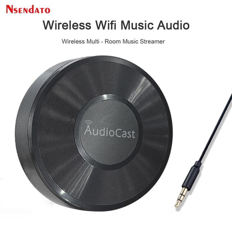 M5 السمعية لairplay اللاسلكية مكبر صوت الموسيقى استقبال 2.4G واي فاي Hifi الموسيقى ل DLNA Airplay محول سبوتيفي غاسل
