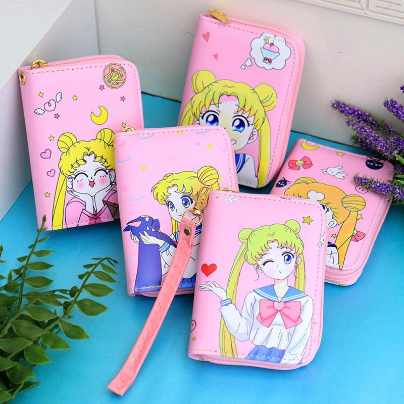 Anime Wallet SWomen Short Wallets Female Card Holder Purses Girls Small Zipper Wallet With Coin Purse Fans Gift