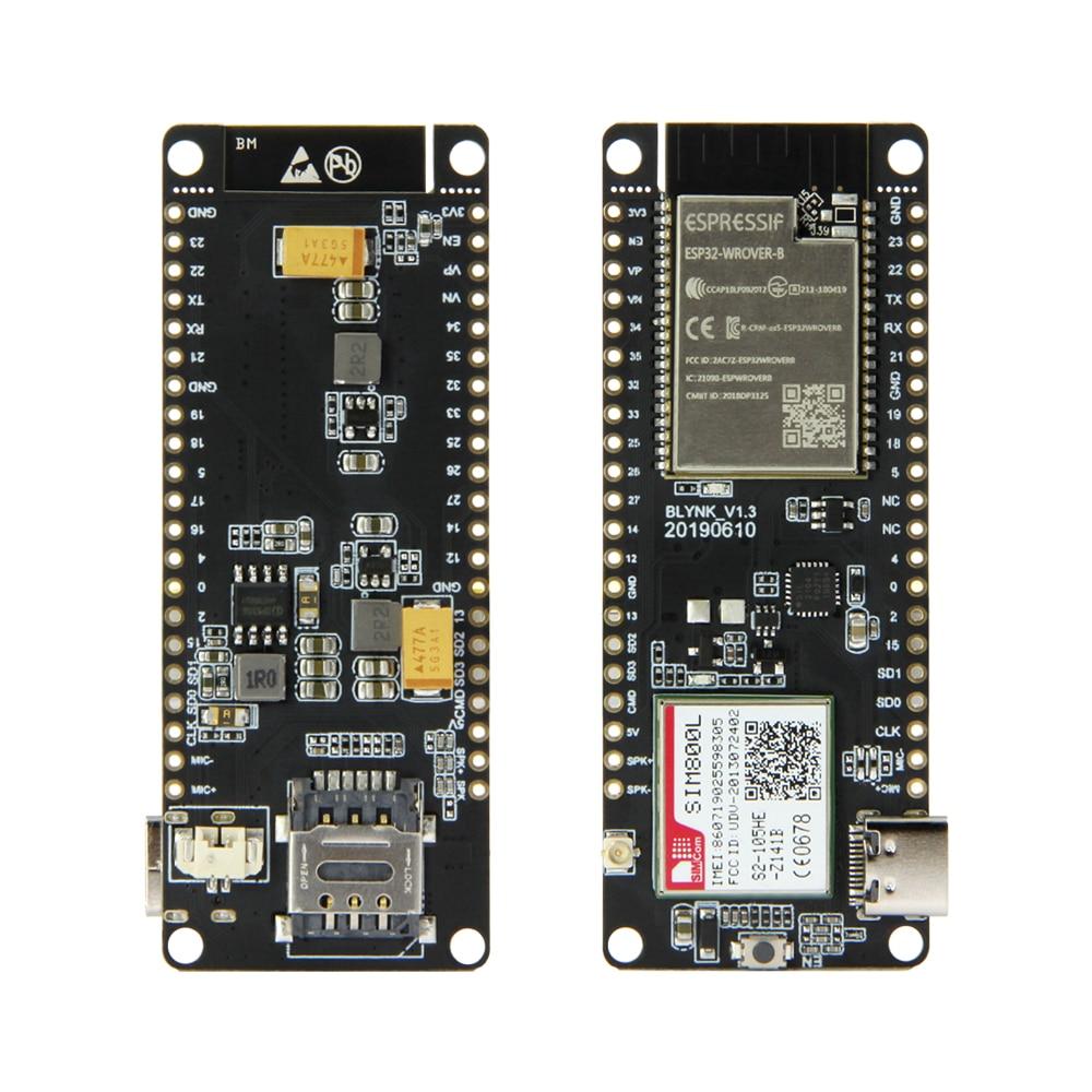 LILYGO®TTGO t-call, módulo inalámbrico V1.3 ESP32, antena SIM, tarjeta SIM, módulo SIM800L y antena GSM/GPRS