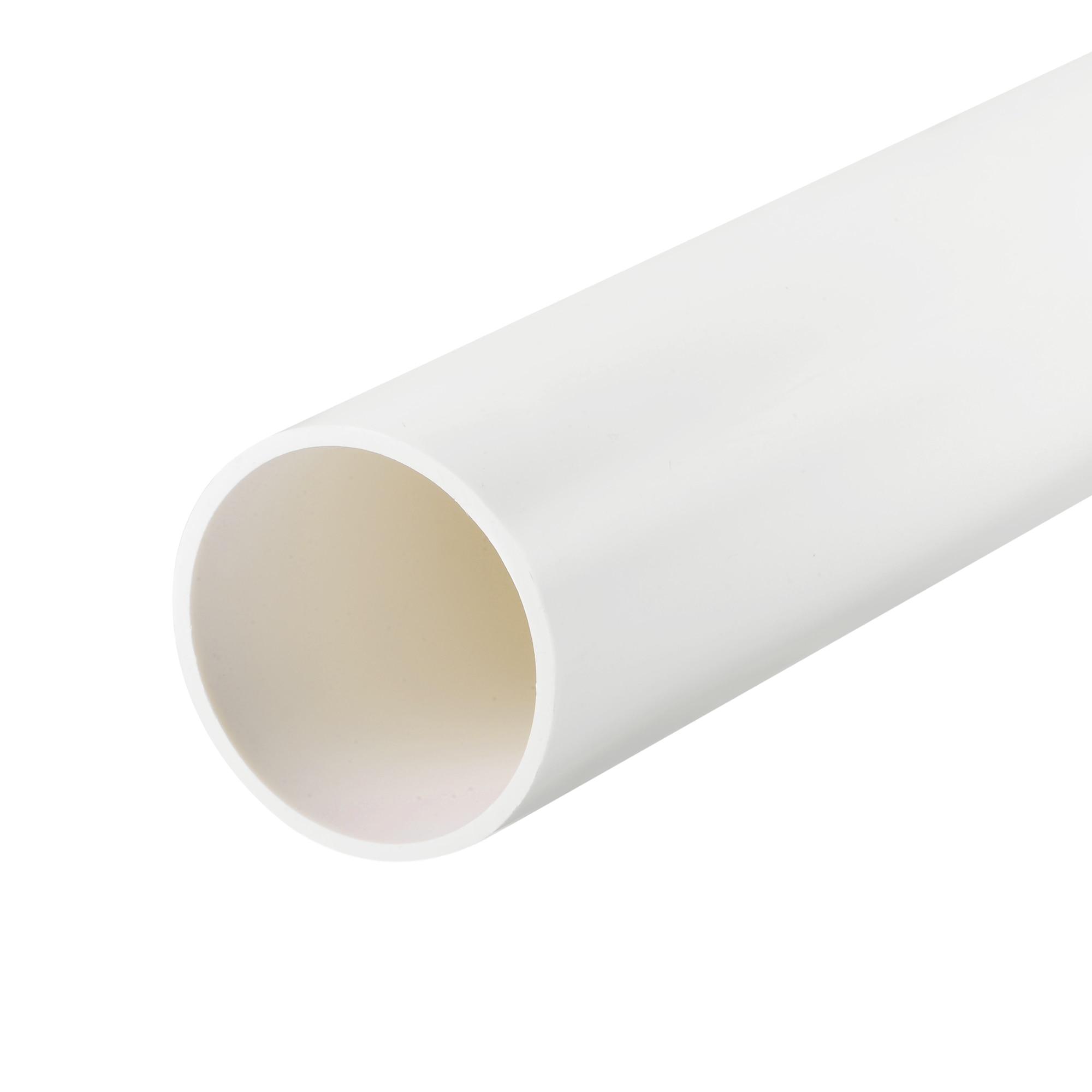 Uxcell ПВХ труба 45,2 мм ID x 50 мм OD 0,5 м, жесткая водопроводная труба, дренажная труба, белая