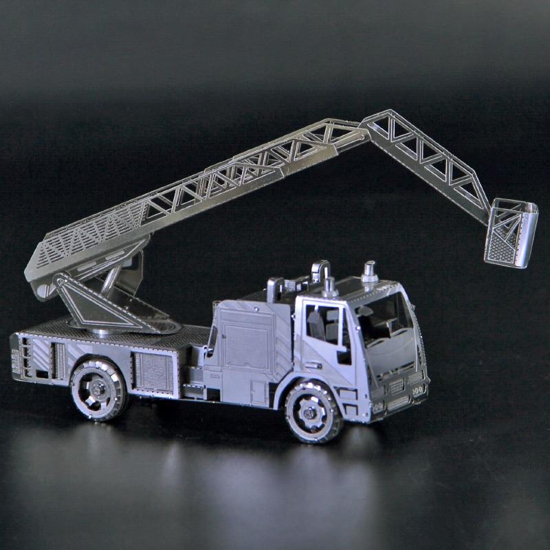 Rompecabezas 3D DIY de metal con escalera y motor de fuego, mini...