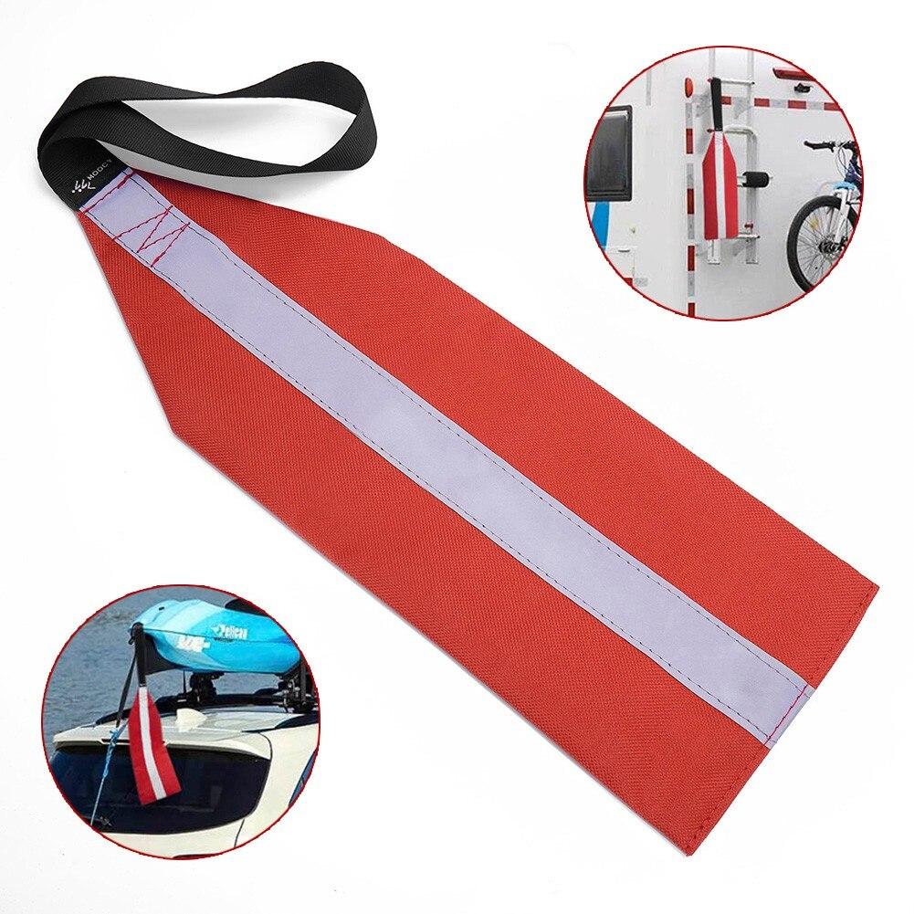 Каяк/SUP дорожный буксировочный флаг, очень видимый прочный красный безопасный флаг со шнурком для каякинга и Тесьмы