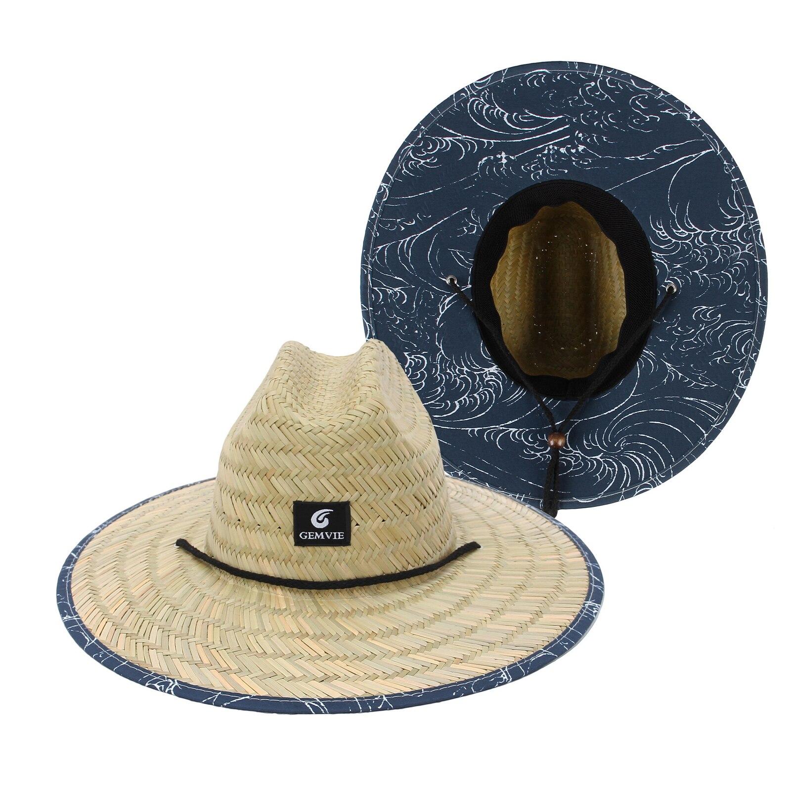 AliExpress - The Printed Brim Women Men Lifeguard Hat Straw Summer Beach Sun hat Outdoor Summer Wide Brim Panama Straw Womens Summer Hat