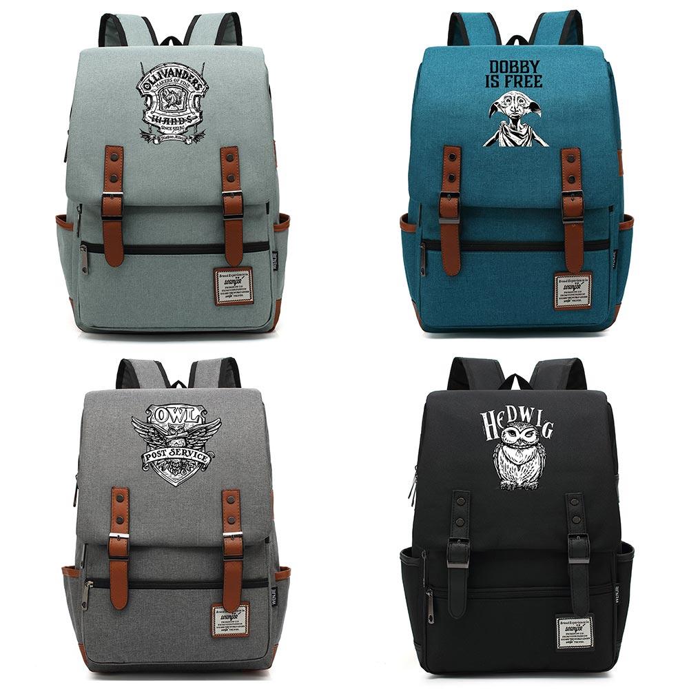 B0333 mochila de moda para Escuela de Magia con hebilla de serpiente, león, águila, para niños, mochila para adolescentes, mochila para estudiantes y mujeres, mochila para hombre