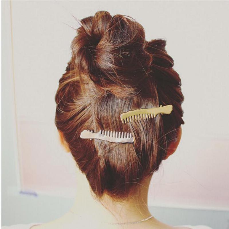 Korean Version Of The Jewelry Personality Popular Metal Liu Folder Hairpin Comb Folder Folder Clip Duckbill Clip Small Hair Acce