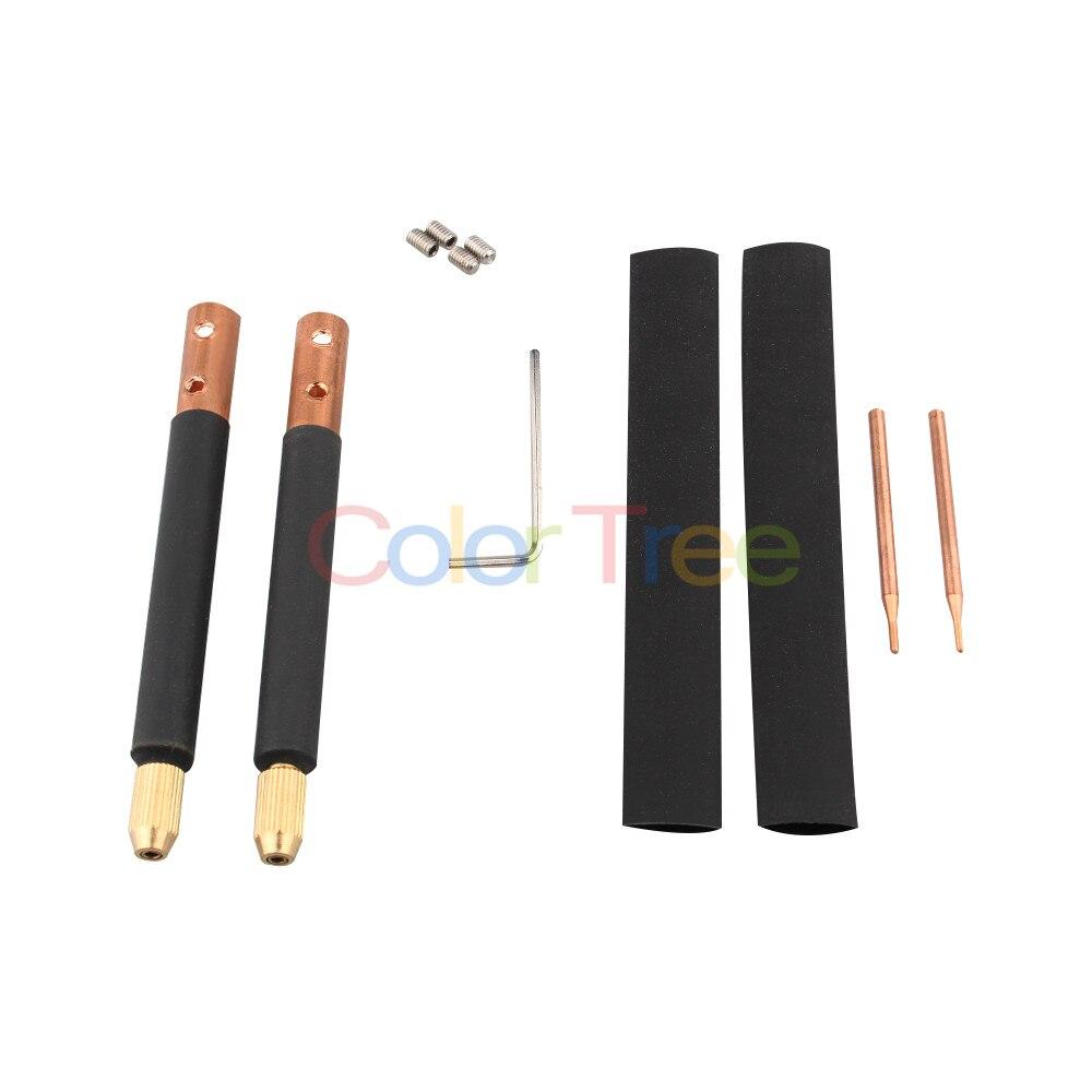 1 Set Spot Welder Copper Handheld Spot Welding Pen Hole Terminal Connector Kit Trigger Weld Machine Accessory