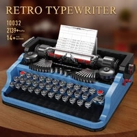 mould king 10032 creative series the classic typewriter model assembly building blocks bricks educational toys birthday gifts