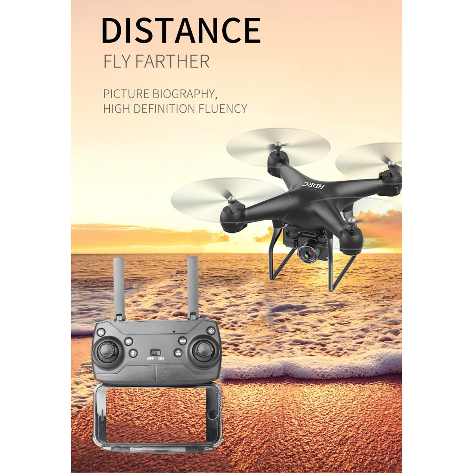Drone HD Camera Professional Aerial Photography Brushless Motor Quadcopter RC Distance 200M