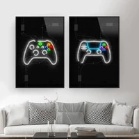 video gaming room posters abstract home decoration canvas painting funny party game wall art pictures for boys room home decor