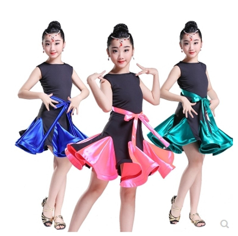 Girls Latin Dance New Skirt Children Competition Professional Wear Summer