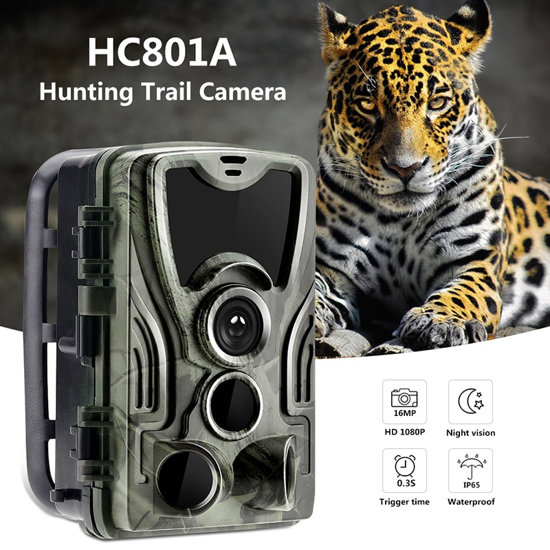 HC-801 Hunting Trail Camera Night Version 16MP 1080P Wildlife Photo Traps 0.3s Trigger Infrared trail Camera Video Surveillance