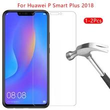 Schutz glas für huawei p smart plus 2018 screen protector gehärtetem glas auf psmart smar smat samrt film zubehör huawey