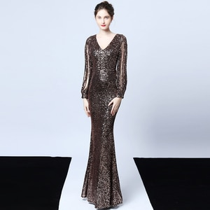 Evening Dresses Evening Dresses Long Mermeid Dress Red Long Sleeve Gown Evening Gowns For Women Mother Of The Bride Dresses 2020