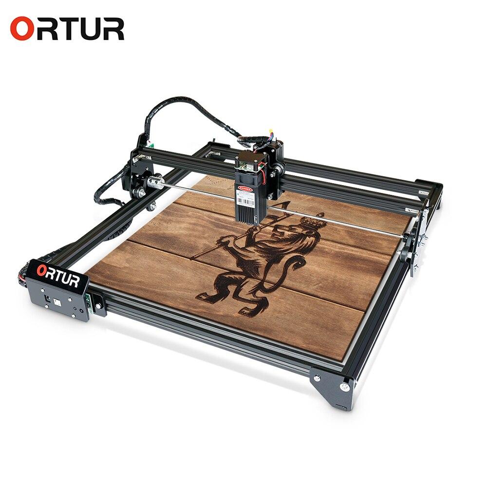 7W Ortur Laser Master 2 grabador láser madera CNC maquina enrutadora controlador GRBL Hobby DIY máquina de grabado para madera Metal cuero